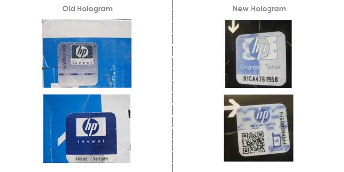 Голограмма  картриджа HP